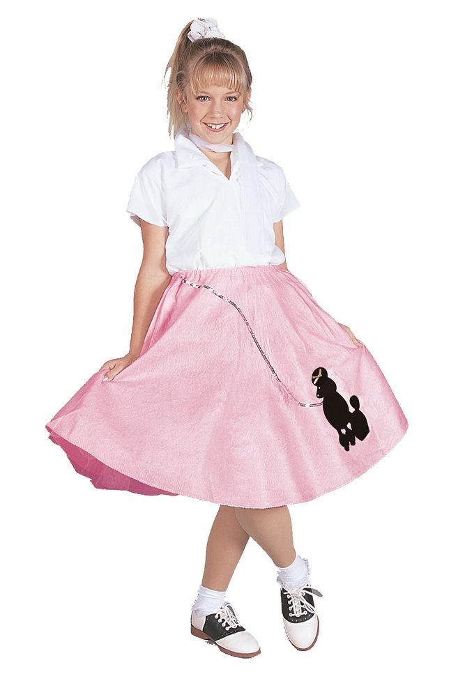 Picture of Pink Poodle Skirt Child Costume
