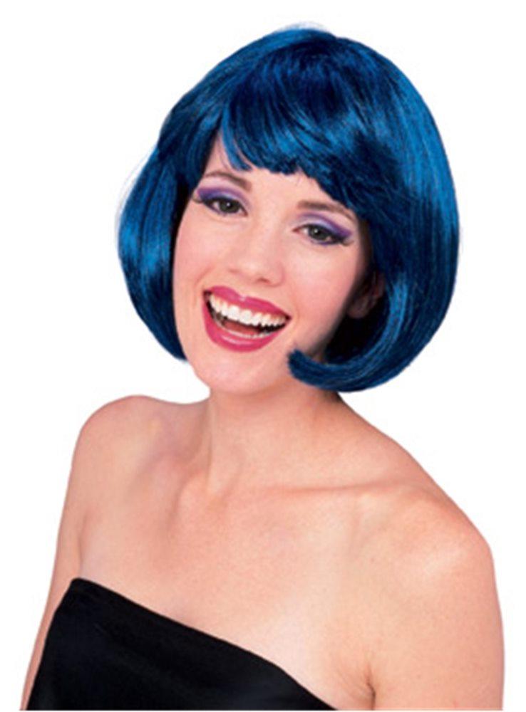 Picture of Blue Super Model Wig