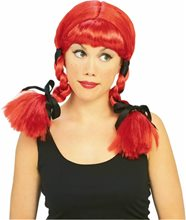 Picture of Red Country Girl Wig