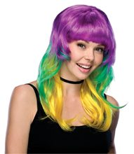 Picture of Mardi Gras Tri Color Wig