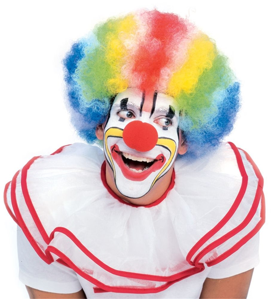 Picture of Multi Color Deluxe Clown Wig