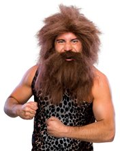 Picture of Brown Caveman Beard and Wig