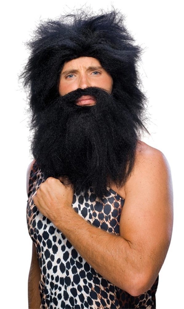 Picture of Caveman Beard and Black Wig