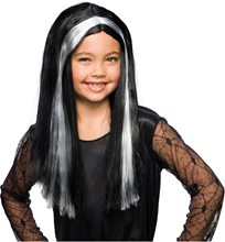 Picture of Black and Grey Child Witch Wig