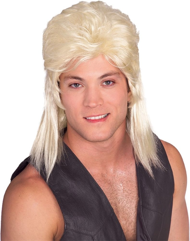 Picture of Blonde Mullet Wig