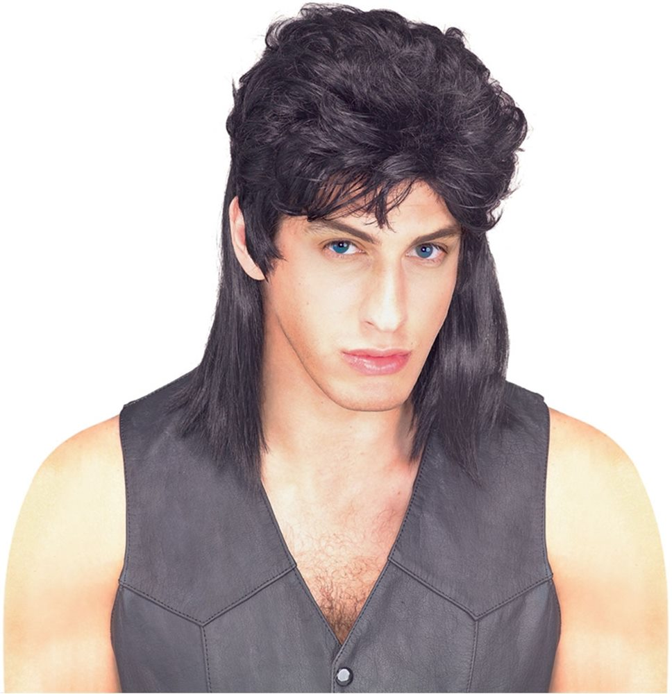 Picture of Mullet Black Adult Wig