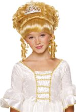 Picture of Princess Blonde Wig with Tiara Child
