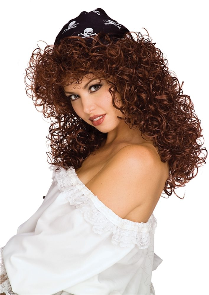 Picture of Brown Sexy Pirate Wig