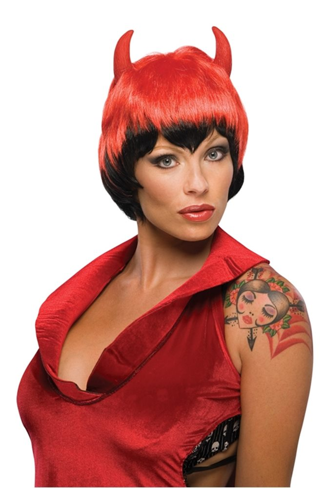 Picture of Short Devil Wig with Horns
