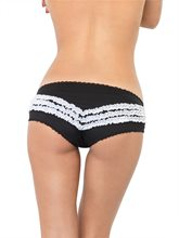 Picture of Ruffle Short Panty Black and White