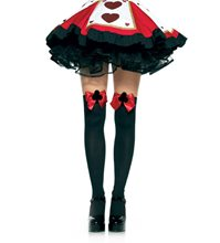 Picture of Black Thigh Highs with Red Bow
