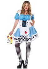 Picture of Miss Wonderland Adult Womens Plus Size Costume