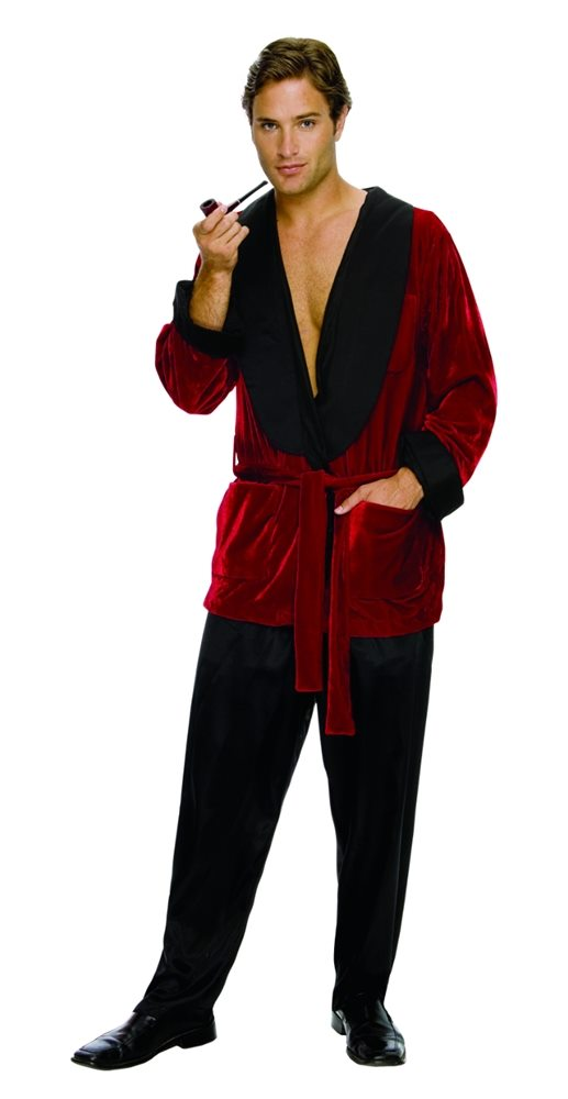 Picture of Playboy Hugh Hefner Smoking Jacket Adult Mens Costume