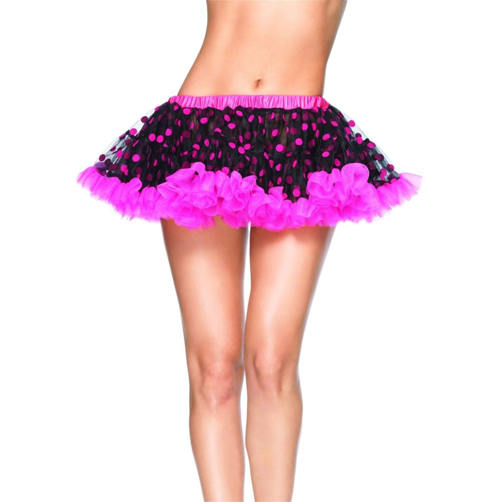 Picture of Pink and Black Polka Dot Petticoat