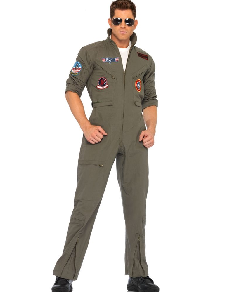 Picture of Top Gun Jumpsuit Adult Mens Costume