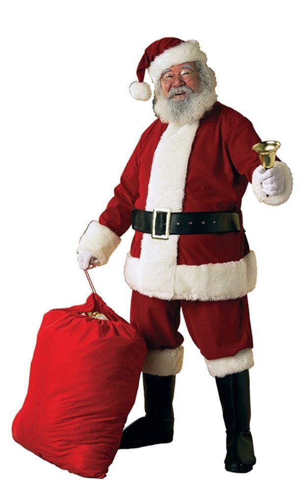Picture of Velvet Santa Claus Suit Adult Costume