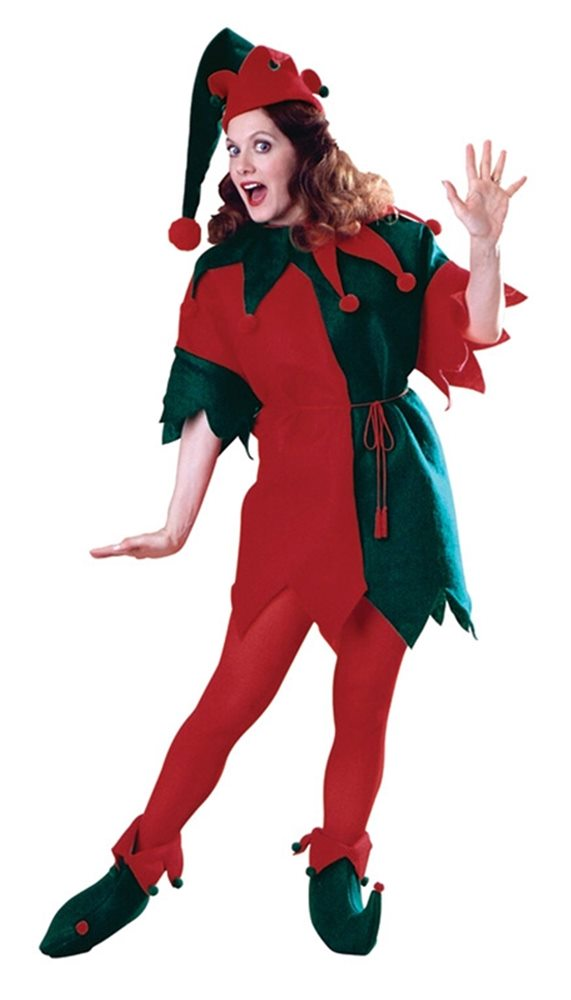 Picture of Elf Fleece Adult Set Costume