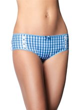Picture of Cotton Daisy Blue and White Adult Boyshorts