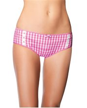 Picture of Cotton Daisy Pink and White Adult Boyshorts