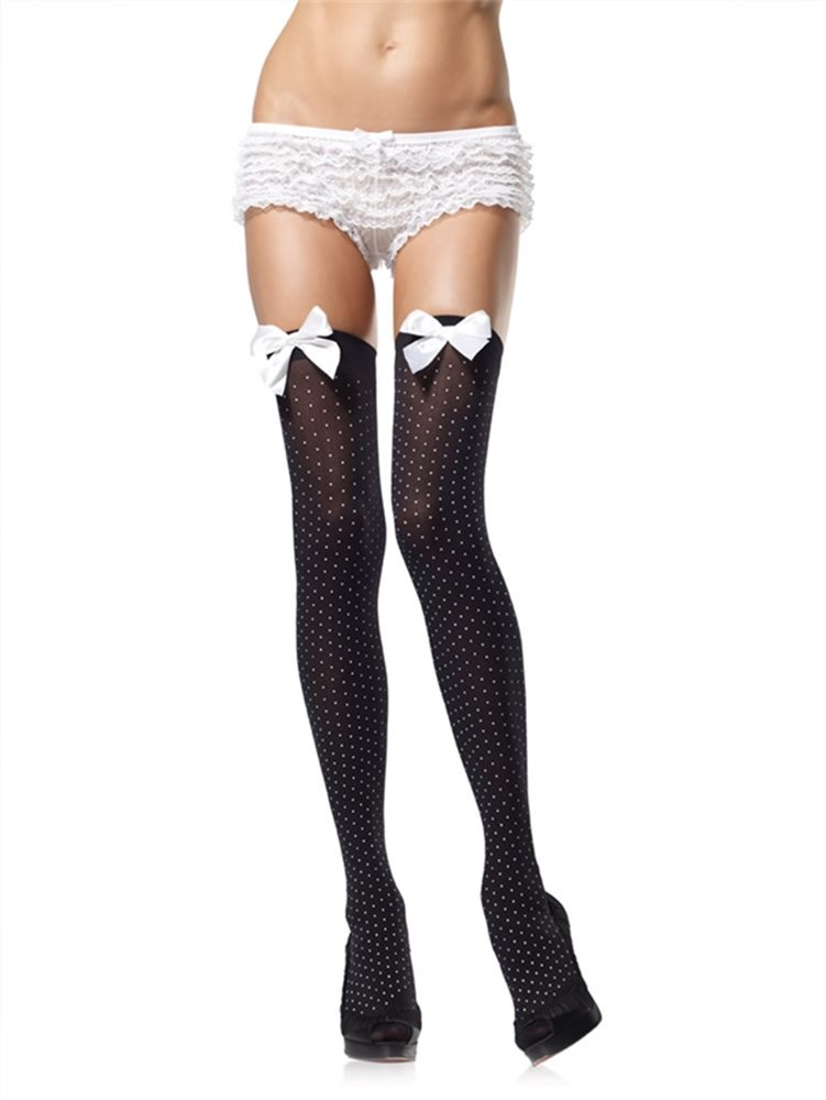 Picture of Polka Dot Thigh High with Bow