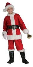 Picture of Santa Claus Flannel Suit Child Costume