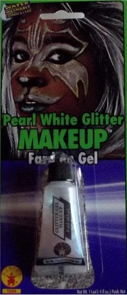 Picture of Pearl White Glitter Makeup