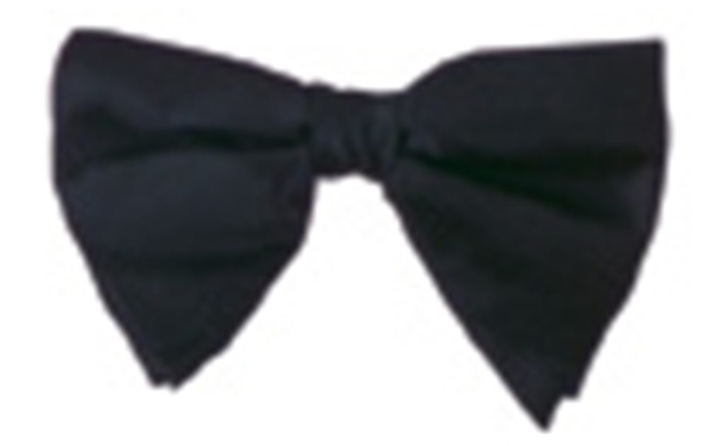 Picture of Black Satin Bow Tie