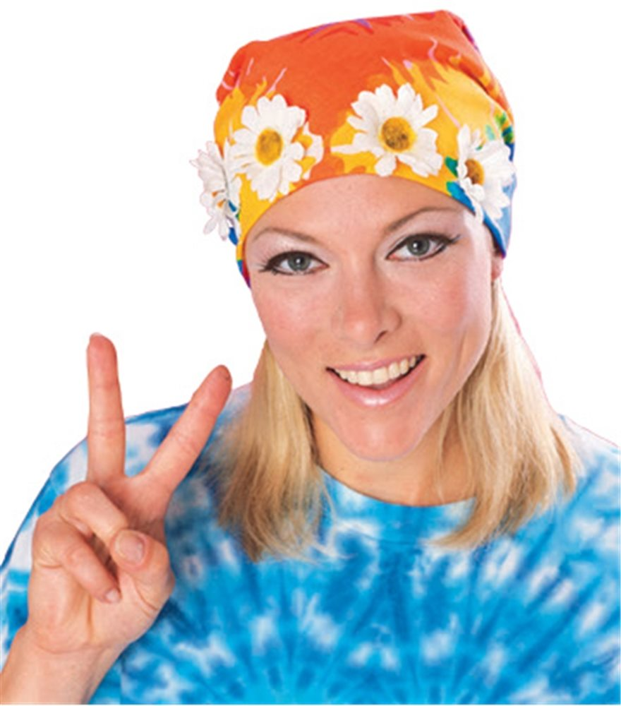 Picture of Tie Dye Bandana With Daisy Trim