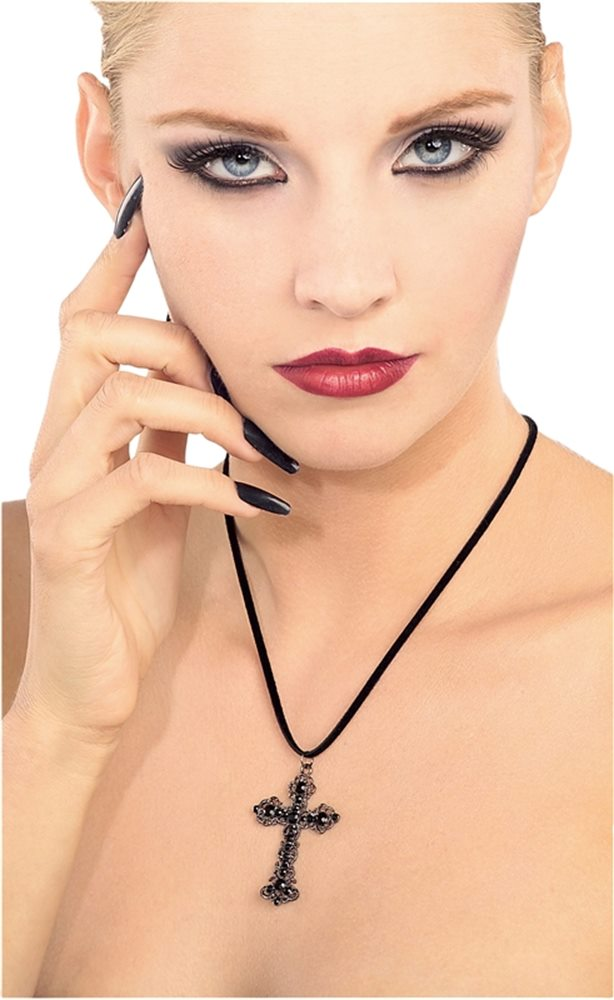 Picture of Black Gothic Cross Necklace