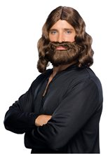 Picture of Brown Biblical Wig and Beard Set