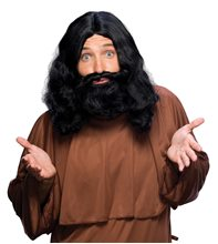Picture of Black Biblical Wig and Beard Set