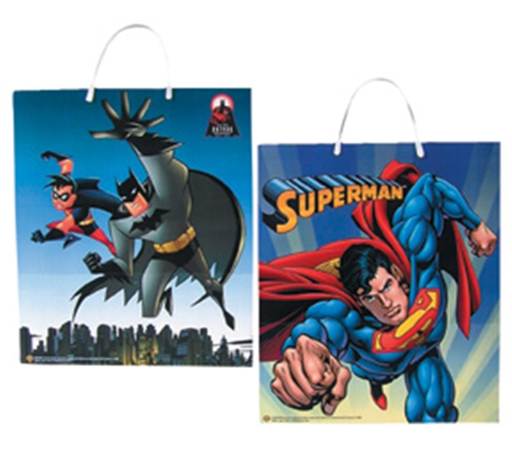 Picture of Batman Superman Trick Treat Bags