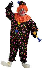 Picture of Black Polka Dots Clown Adult Mens Plus Size Costume