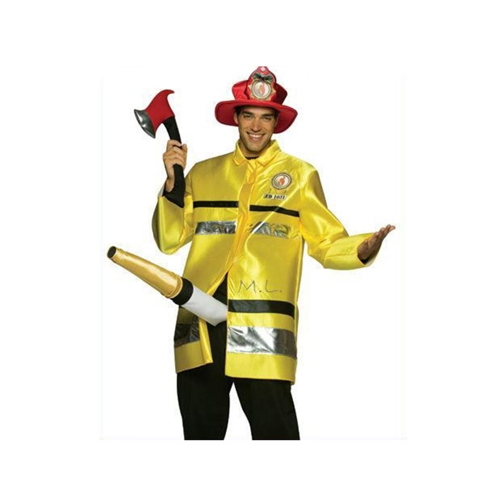 Picture of Fireman With Hose Adult Costume