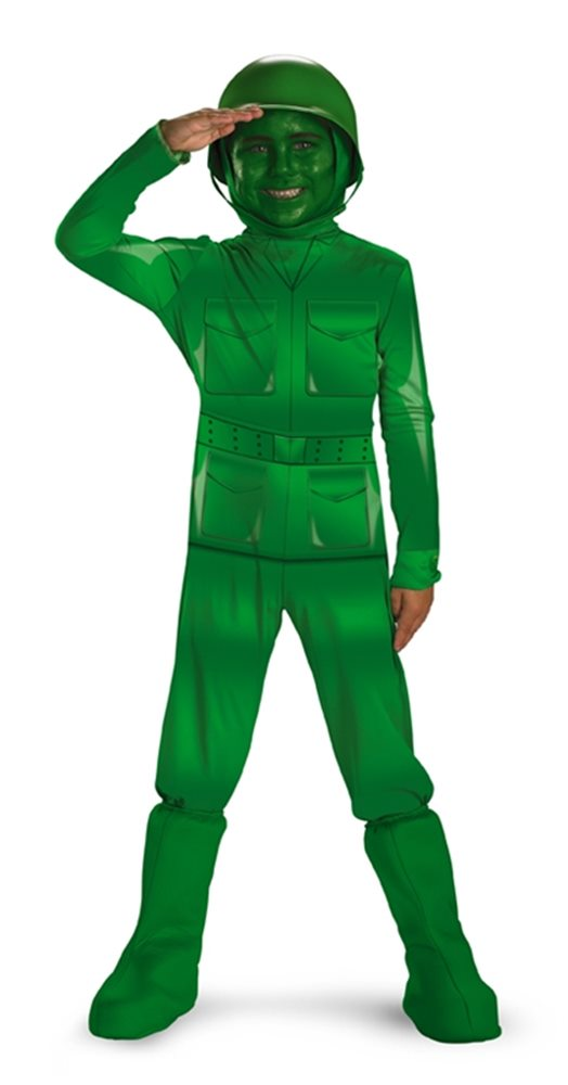 Picture of Green Army Man Deluxe Child Costume