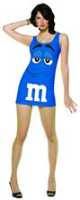 Picture of M&M Blue Dress Adult Womens Costume