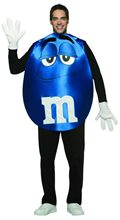Picture of M&M Poncho Blue Adult Costume
