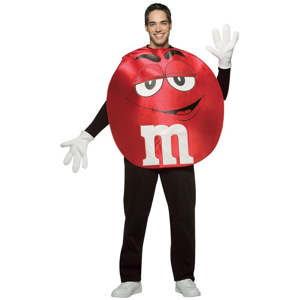 Picture of M&M Red Poncho Adult Unisex Costume
