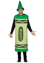 Picture of Crayola Deluxe Green Crayon Adult Unisex Costume