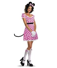 Picture of Sassy Pink Minnie Mouse Adult Womens Costume
