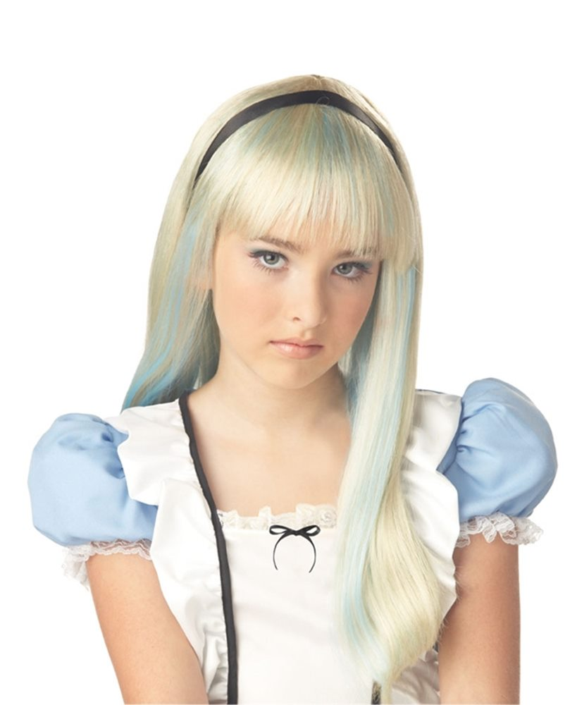 Picture of Alice Blonde and Blue Child Wig