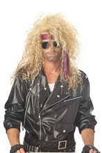 Picture of Blonde Heavy Metal Rocker Wig