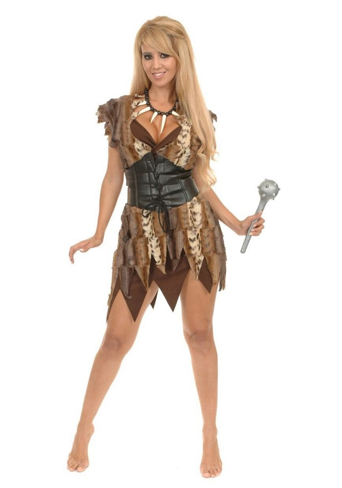 Picture of Cave Woman Brown Adult Costume