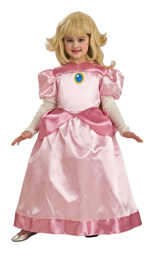 Picture of Mario Brothers Deluxe Princess Peach Child Costume