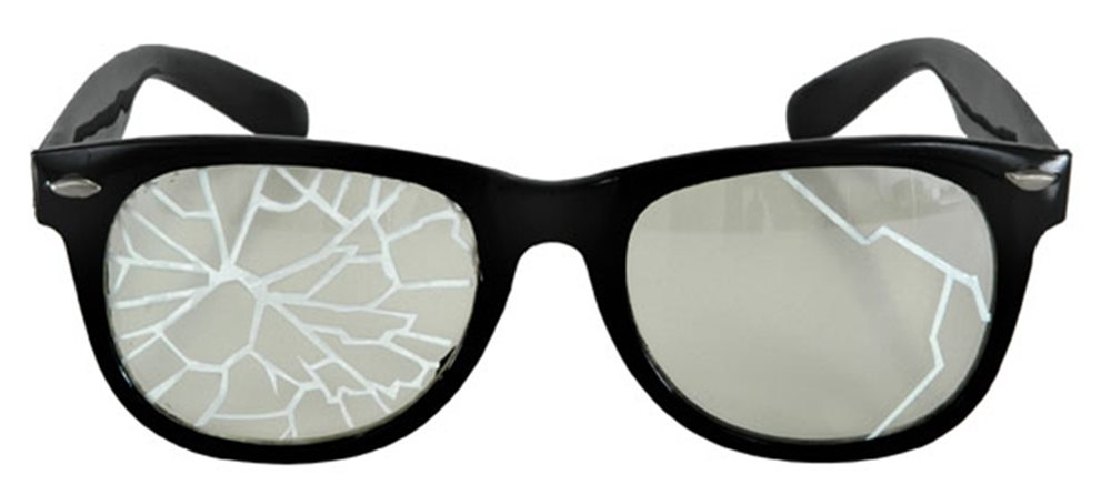 Picture of Broken Lense Black Glasses