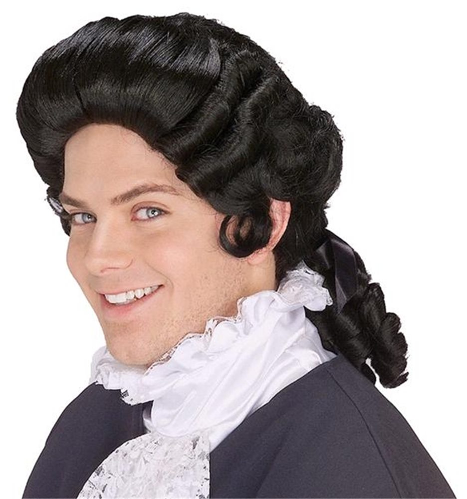Picture of Black Colonial Man Wig