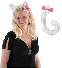 Picture of Cute Kitty Ears and Tail Set White