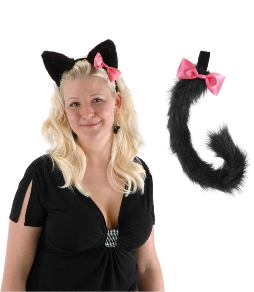 Picture of Cute Kitty Ears and Tail Set Black
