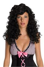Picture of Black Rockabilly Swish Wig