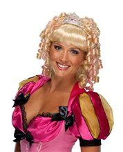 Picture of Blonde Princess Adult Wig with Crown